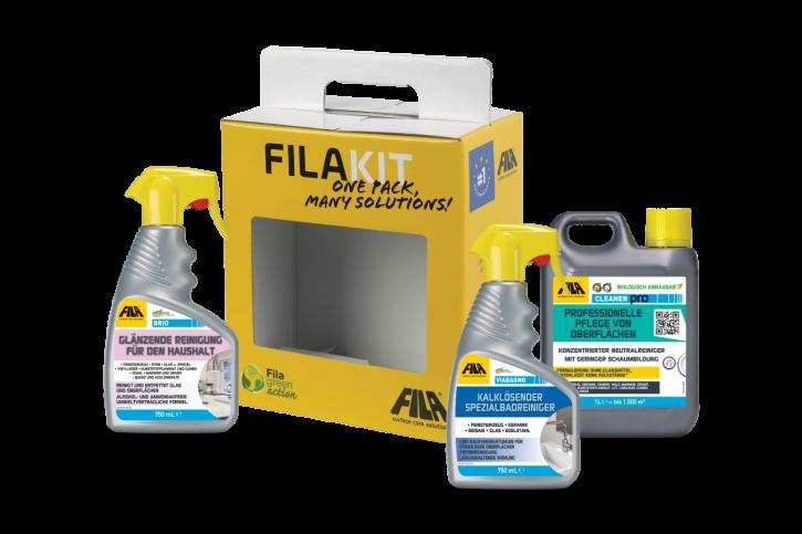 Fila Kit Reiniger für die Pflege im Haushalt: Cleaner + ViaBagno + Brio