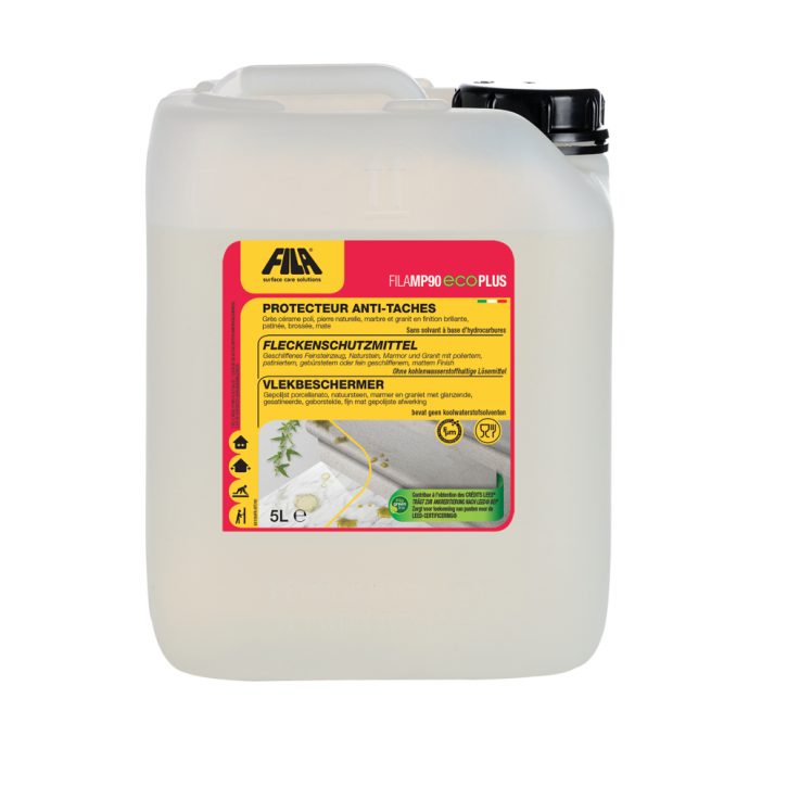 4x Fila MP90 Eco Plus lösemittelfreies Fleckschutzmittel 5 Liter