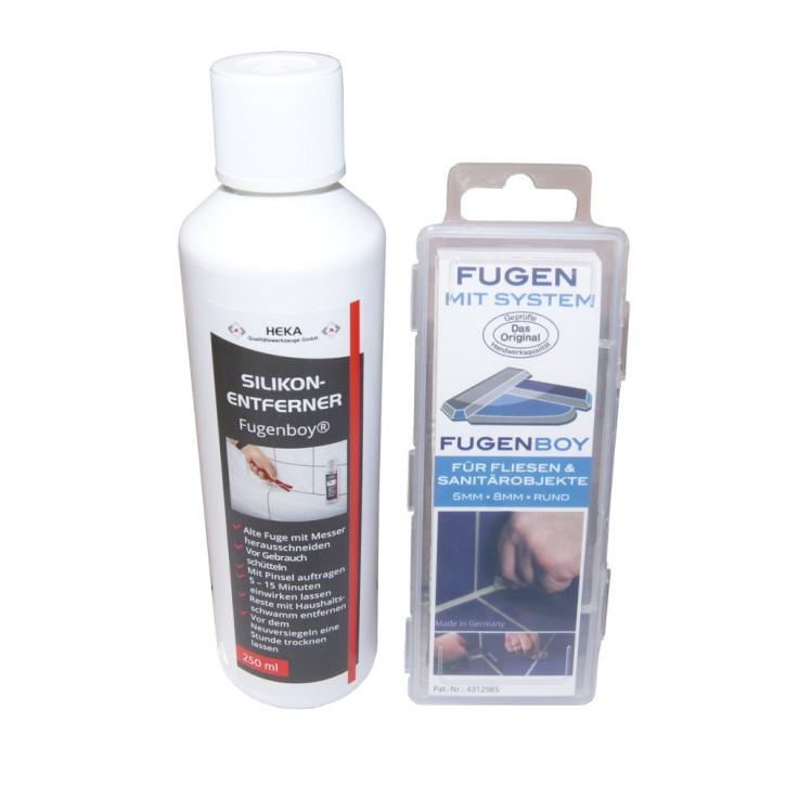 Fugenboy Set 5mm / 8mm + Silikonentferner 250ml