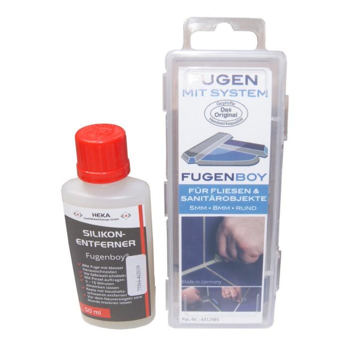 Fugenboy Set 5mm / 8mm + Silikonentferner 50ml