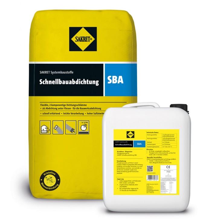 Sakret Schnellbauabdichtung SBA 30kg Pulver- & Flüssigkomponente