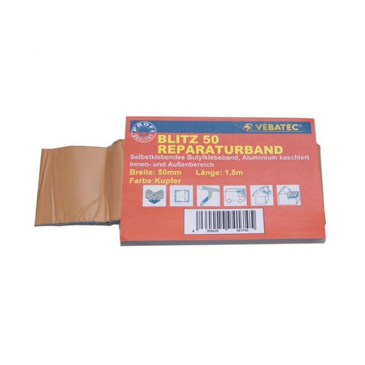 Vebatec Blitz Butyl Reparaturband Alu kupferfarben 50mm / 1,5m
