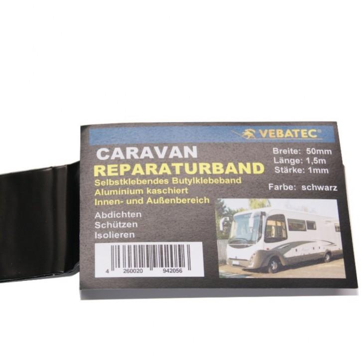Vebatec Caravan Butyl Reparaturband Alu schwarz 50mm 1,5m