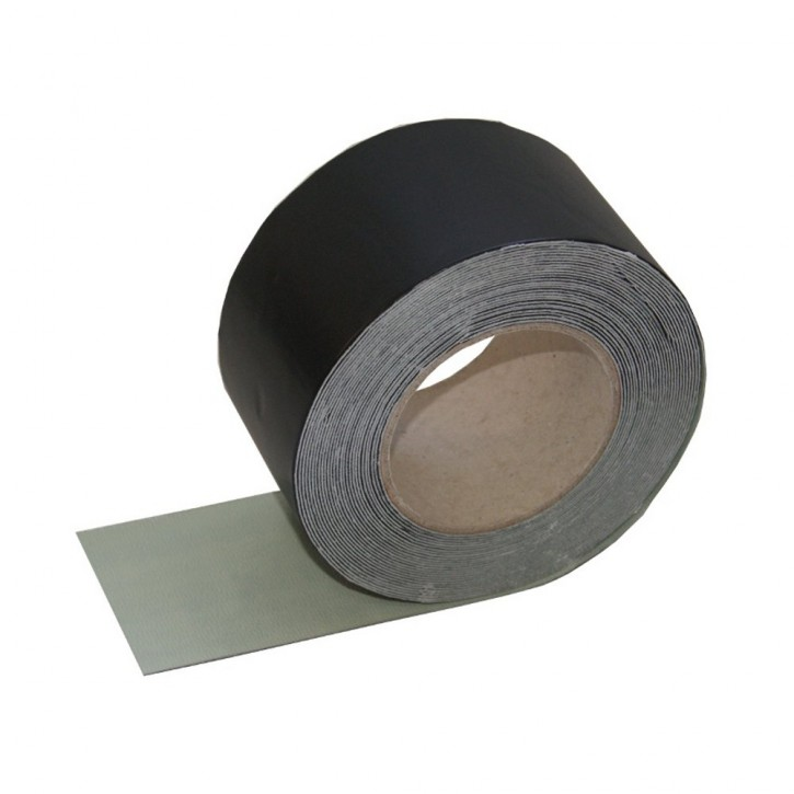 Vebatec Blitz Butyl Reparaturband Alu schwarz 75mm / 10 m