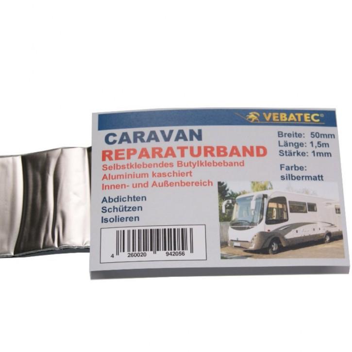 Vebatec Caravan Butyl Reparaturband Alu silbermatt 50mm 1,5m