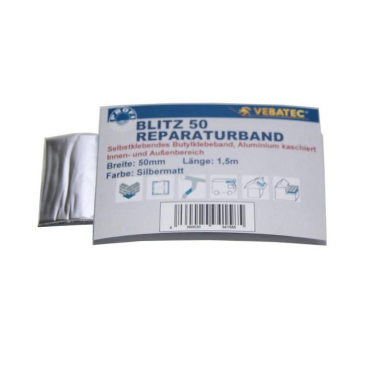 Vebatec Blitz Butyl Reparaturband Alu silbermatt 50mm / 1,5m