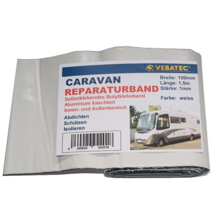 Vebatec Caravan Butyl Reparaturband Alu weiss 100mm 1,5m