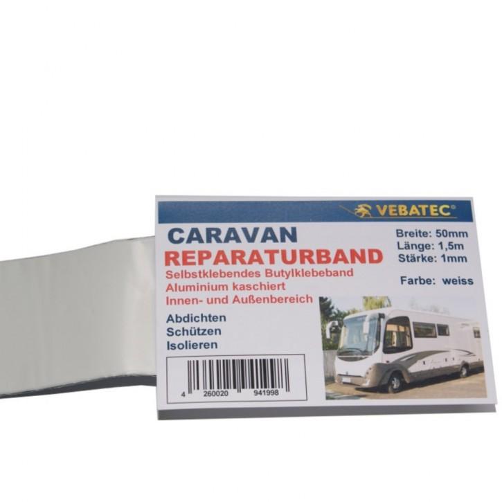 Vebatec Caravan Butyl Reparaturband Alu weiss 50mm 1,5m