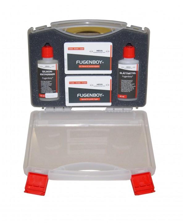 Profi-Koffer - alle Fugenwerkzeuge + Silikonentferner 50ml - Glättmittel 50ml