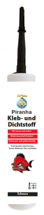 Piranha Hightech Dicht- und Klebstoff Schwarz