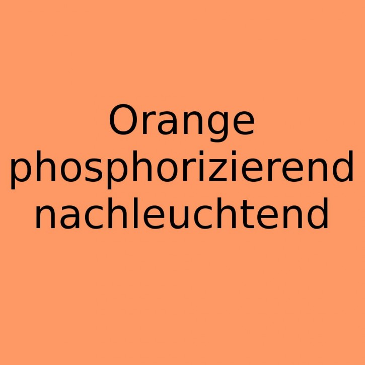 Farbpigmente Orange nachleuchtend