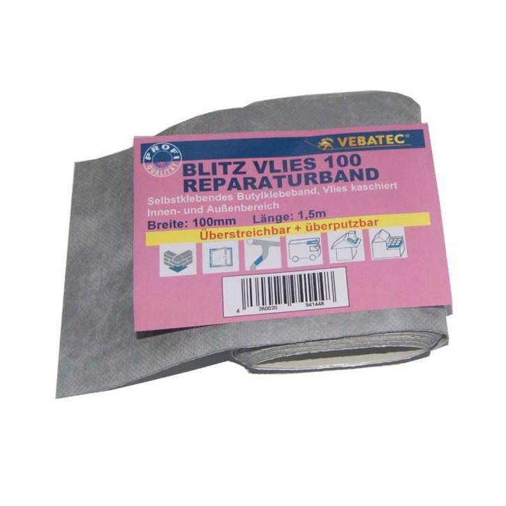 Vebatec Blitz Butyl Reparaturband aus Vlies 100 mm / 1,5 m