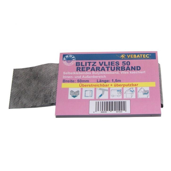 Vebatec Blitz Butyl Reparaturband aus Vlies 50 mm / 1,5 m