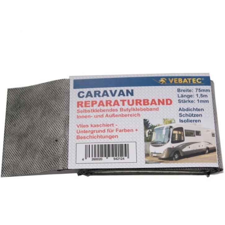 Vebatec Caravan Butyl Reparaturband Vlies kaschiert 75mm 1,5m