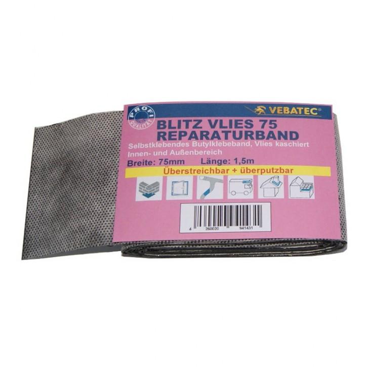Vebatec Blitz Butyl Reparaturband aus Vlies 75 mm / 1,5 m