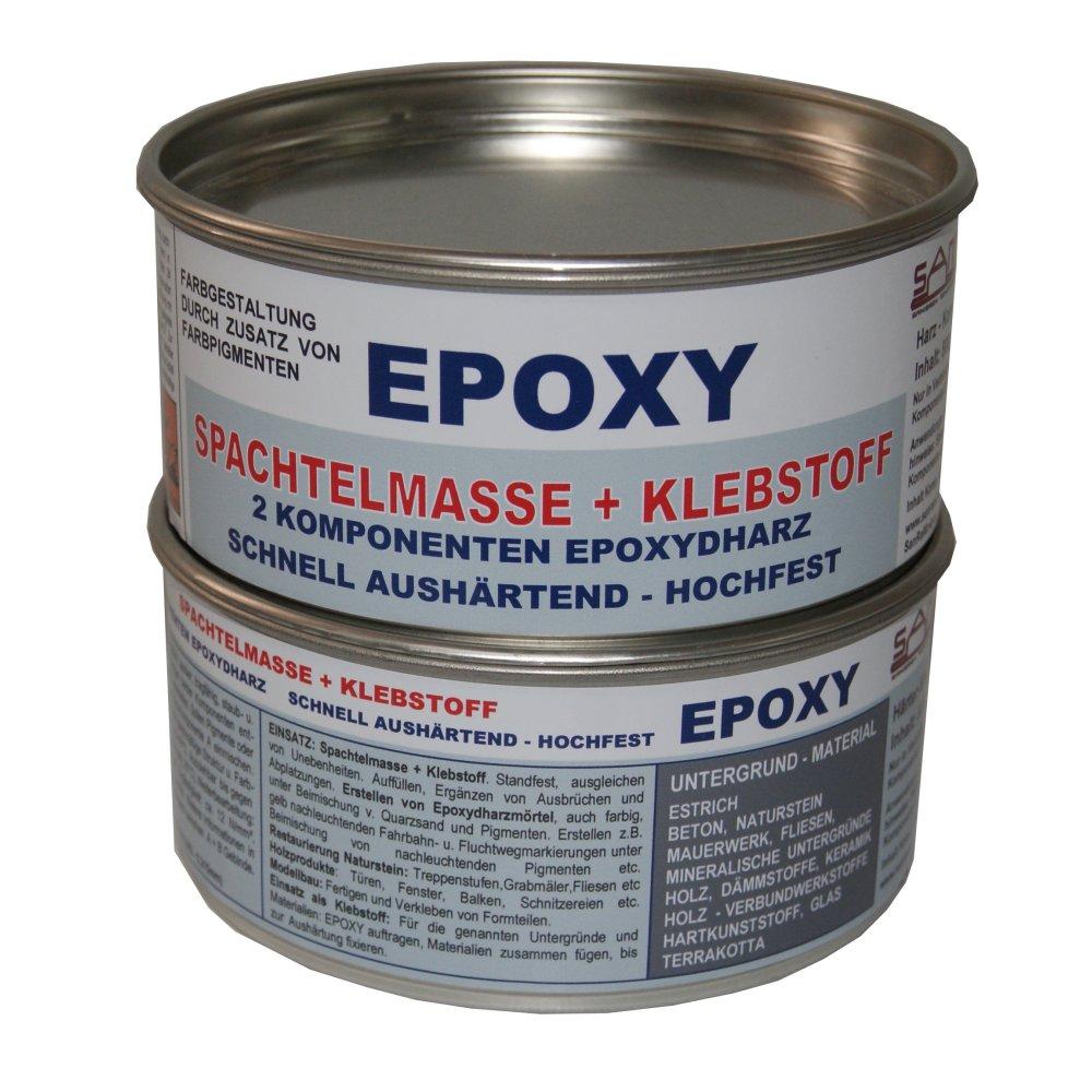 sanremo epoxi / epoxidharz klebstoff + spachtelmasse 1kg